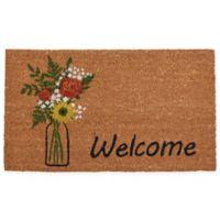 """Calloway Mills Summer Bouquet 17"""" x 29"""" Multicolor Coir Door Mat"""