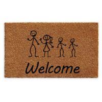 "Calloway Mills 2 Sons Stick Family 24"" x 36"" Coir Door Mat in Natural/Black"