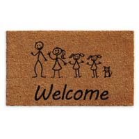 "Calloway Mills 2 Daughters Cat Stick Family 18"" x 30"" Coir Door Mat"