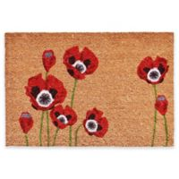 "Calloway Mills Poppies 24"" x 36"" Multicolor Coir Door Mat"