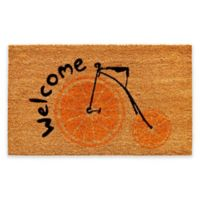 "Calloway Mills Orange Bike 17"" x 29"" Multicolor Coir Door Mat"