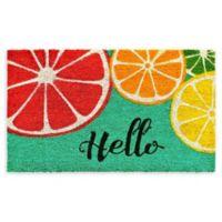 """Calloway Mills Fruit Hello 17"""" x 29"""" Coir Door Mat"""