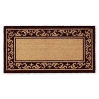 "Calloway Mills Kendall 24"" x 48"" Coir Door Mat in Black/Natural"