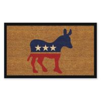 "Calloway Mills Donkey 17"" x 29"" Coir Door Mat in Red/Blue/Natural"