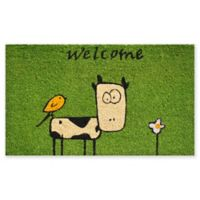 "Calloway Mills Cute Cow 17"" x 29"" Multicolor Coir Door Mat"
