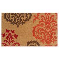 """Calloway Mills Baroque 17"""" x 29"""" Multicolor Coir Door Mat"""
