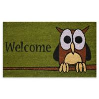 "Calloway Mills Owl Welcome 17"" x 29"" Multicolor Coir Door Mat"