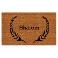 "Calloway Mills Shalom 17"" x 29"" Coir Door Mat in Natural/Black"