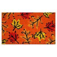 """Calloway Mills Fall Leaves 17"""" x 29"""" Coir Door Mat"""