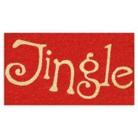 """Calloway Mills Jingle 17"""" x 29"""" Coir Door Mat in Red/Natural"""