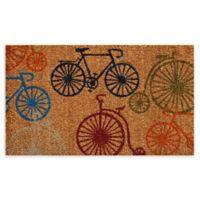 """Calloway Mills Bicycles 17"""" x 29"""" Multicolor Coir Door Mat"""