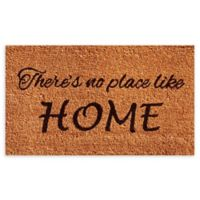 "Calloway Mills No Place Like Home 17"" x 29"" Coir Door Mat in Natural/Black"