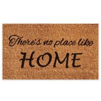 """Calloway Mills No Place Like Home 24"""" x 36"""" Coir Door Mat in Natural/Black"""