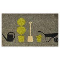 """Calloway Mills Garden Pleasure 17"""" x 29"""" Multicolor Coir Door Mat"""