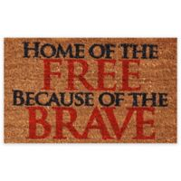 "Calloway Mills Home of the Free 17"" x 29"" Multicolor Coir Door Mat"