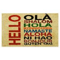 """Calloway Mills International Hello 17"""" x 29"""" Coir Door Mat"""