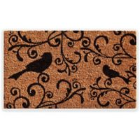 """Calloway Mills Raven Beauty 17"""" x 29"""" Coir Door Mat in Natural/Black"""