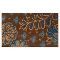 "Calloway Mills Avondale 17"" x 29"" Coir Door Mat in Brown/Blue"