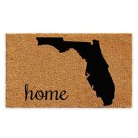 "Calloway Mills Florida Home 24"" x 36"" Coir Door Mat in Natural/Black"
