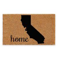 "Calloway Mills California Home 18"" x 30"" Coir Door Mat in Natural/Black"