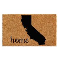 "Calloway Mills California Home 24"" x 36"" Coir Door Mat in Natural/Black"