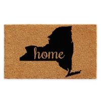 "Calloway Mills New York Home 18"" x 30"" Coir Door Mat in Natural/Black"