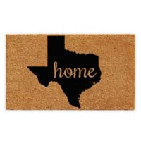 "Calloway Mills Texas Home 24"" x 36"" Coir Door Mat in Natural/Black"