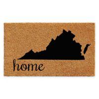 """Calloway Mills Virginia Home 24"""" x 36"""" Coir Door Mat in Natural/Black"""