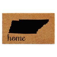 "Calloway Mills Home Tennessee 18"" x 30"" Coir Door Mat in Natural/Black"