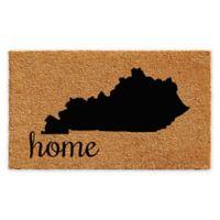 "Calloway Mills Kentucky Home 24"" x 36"" Coir Door Mat in Natural/Black"
