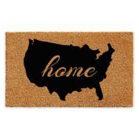 "Calloway Mills USA Home 24"" x 36"" Coir Door Mat in Natural/Black"