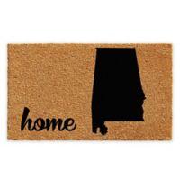 "Calloway Mills Alabama Home 18"" x 30"" Coir Door Mat in Natural/Black"