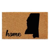 "Calloway Mills Mississippi Home 24"" x 36"" Coir Door Mat in Natural/Black"