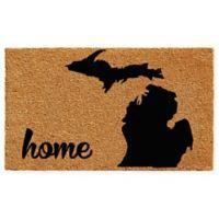 "Calloway Mills Michigan Home 24"" x 36"" Coir Door Mat in Natural/Black"