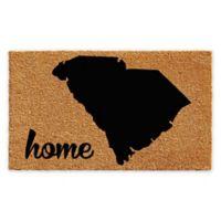 """Calloway Mills South Carolina Home 24"""" x 36"""" Coir Door Mat in Natural/Black"""