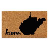 """Calloway Mills West Virginia Home 18"""" x 30"""" Coir Door Mat in Natural/Black"""