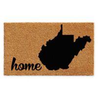 """Calloway Mills West Virginia Home 24"""" x 36"""" Coir Door Mat in Natural/Black"""