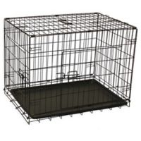 Aleko 2-Door 30-Inch Folding Pet Crate in Black
