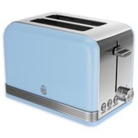 Swan® Retro Style 2-Slice Toaster in Blue