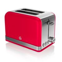 Swan® Retro Style 2-Slice Toaster in Red