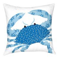 C&F Enterprises, Inc Crab Square Throw Pillow in Blue