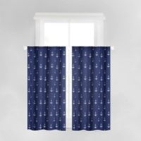 Anchors Away 45-Inch Rod Pocket Window Curtains in Navy (Set of 2)