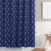 Anchors Away 72-Inch x 96-Inch Shower Curtain in Navy