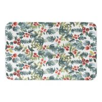 """Designs Direct 34"""" x 21"""" Watercolor Holly Bath Mat in Green"""