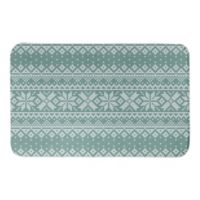 "Designs Direct 34"" x 21""Knit Snowflake Pattern Bath Mat in Green"