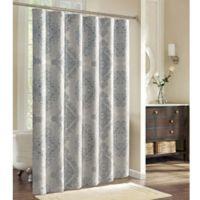 Charisma Edienne Shower Curtain In Grey Silver