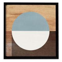 Linda Woods Mod 36-Inch Square Framed Canvas Wall Art in Blue/White