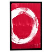 Linda Woods Redenso 14-Inch x 18-Inch Framed Canvas Wall Art in Red