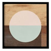 Mod Peace and Mint 10-Inch Square Canvas Wall Art