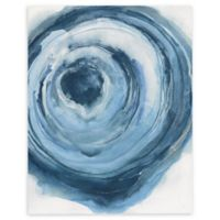 Watercolor Geode II 14-Inch x 18-Inch Rectangular Canvas Wall Art in Blue